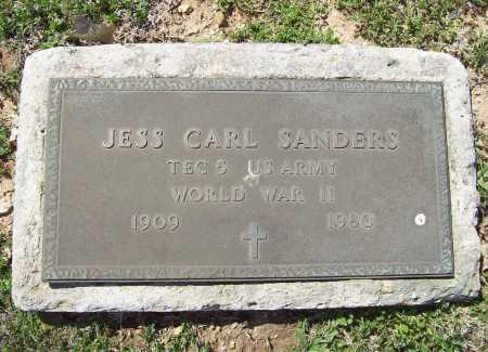 SANDERS (VETERAN WWII), JESS CARL - Benton County, Arkansas | JESS CARL SANDERS (VETERAN WWII) - Arkansas Gravestone Photos