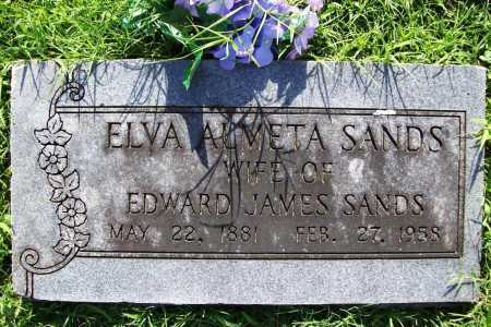 SANDS, ELVA ALMETA - Benton County, Arkansas | ELVA ALMETA SANDS - Arkansas Gravestone Photos