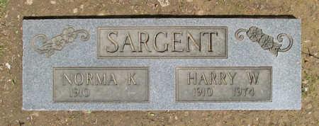 SARGENT, HARRY W. - Benton County, Arkansas | HARRY W. SARGENT - Arkansas Gravestone Photos