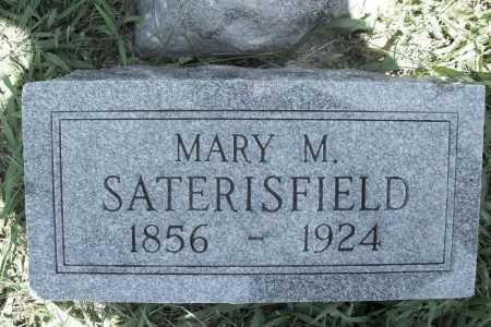 SATERISFIELD, MARY M. - Benton County, Arkansas | MARY M. SATERISFIELD - Arkansas Gravestone Photos