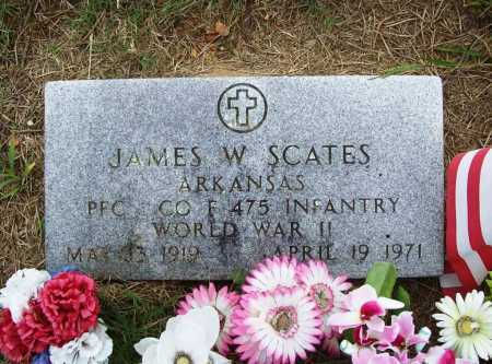 SCATES (VETERAN WWII), JAMES W - Benton County, Arkansas | JAMES W SCATES (VETERAN WWII) - Arkansas Gravestone Photos