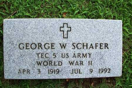 SCHAFER (VETERAN WWII), GEORGE W. - Benton County, Arkansas | GEORGE W. SCHAFER (VETERAN WWII) - Arkansas Gravestone Photos