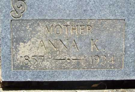 SCHAUM, ANNA K. - Benton County, Arkansas | ANNA K. SCHAUM - Arkansas Gravestone Photos
