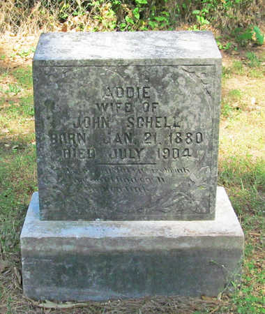 SCHELL, ADDIE - Benton County, Arkansas | ADDIE SCHELL - Arkansas Gravestone Photos