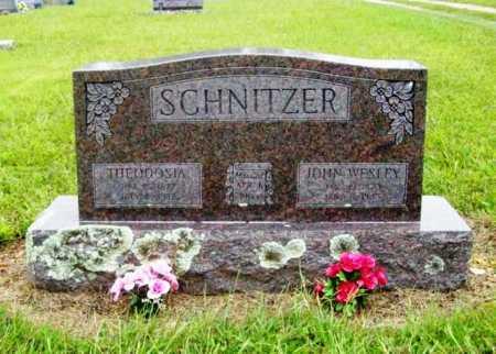 SCHNITZER, JOHN WESLEY - Benton County, Arkansas | JOHN WESLEY SCHNITZER - Arkansas Gravestone Photos
