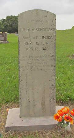 SCHNITZER, JULIA A - Benton County, Arkansas | JULIA A SCHNITZER - Arkansas Gravestone Photos
