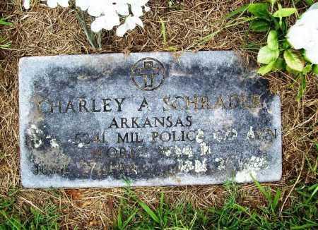 SCHRADER (VETERAN WWII), CHARLEY A - Benton County, Arkansas | CHARLEY A SCHRADER (VETERAN WWII) - Arkansas Gravestone Photos