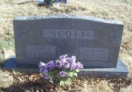 SCOTT, ALBERT HUGH - Benton County, Arkansas | ALBERT HUGH SCOTT - Arkansas Gravestone Photos
