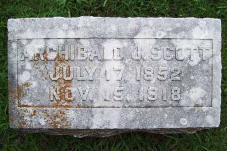 SCOTT, ARCHIBALD J. - Benton County, Arkansas | ARCHIBALD J. SCOTT - Arkansas Gravestone Photos