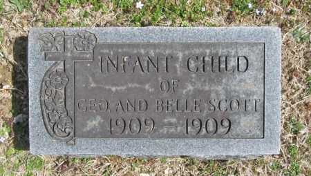 SCOTT, INFANT CHILD - Benton County, Arkansas | INFANT CHILD SCOTT - Arkansas Gravestone Photos