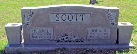 SCOTT, JOHN N. - Benton County, Arkansas | JOHN N. SCOTT - Arkansas Gravestone Photos