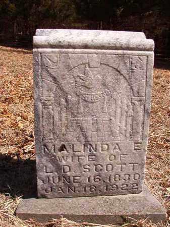 SCOTT, MALINDA E - Benton County, Arkansas | MALINDA E SCOTT - Arkansas Gravestone Photos