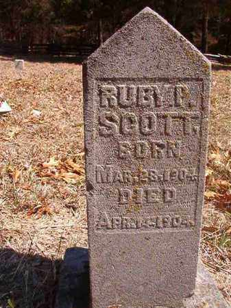 SCOTT, RUBY P. - Benton County, Arkansas | RUBY P. SCOTT - Arkansas Gravestone Photos