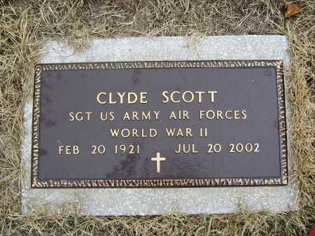 SCOTT (VETERAN WWII), CLYDE - Benton County, Arkansas | CLYDE SCOTT (VETERAN WWII) - Arkansas Gravestone Photos