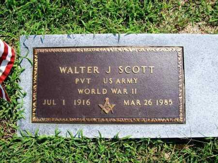 SCOTT (VETERAN WWII), WALTER J - Benton County, Arkansas | WALTER J SCOTT (VETERAN WWII) - Arkansas Gravestone Photos