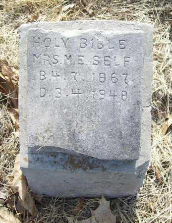 SELF, MRS. M. E. - Benton County, Arkansas | MRS. M. E. SELF - Arkansas Gravestone Photos