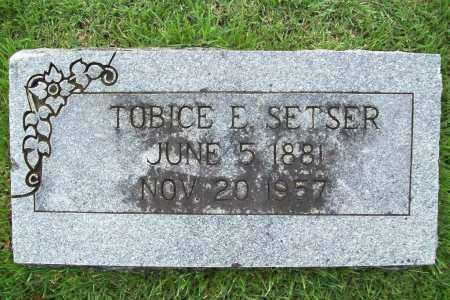 SETSER, TOBICE E. - Benton County, Arkansas | TOBICE E. SETSER - Arkansas Gravestone Photos