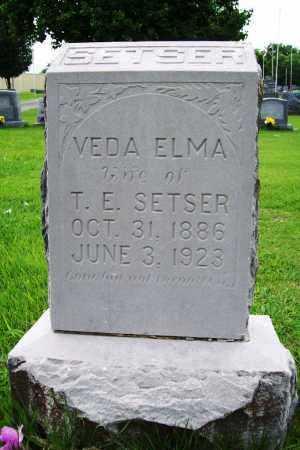 SETSER, VEDA ELMA - Benton County, Arkansas | VEDA ELMA SETSER - Arkansas Gravestone Photos