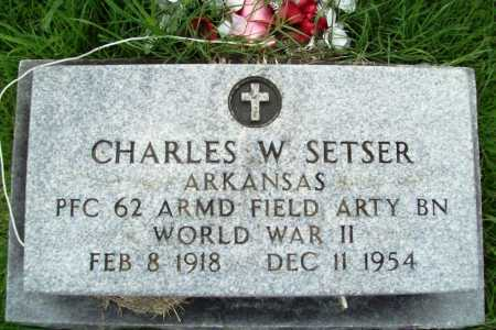 SETSER (VETERAN WWII), CHARLES W. - Benton County, Arkansas | CHARLES W. SETSER (VETERAN WWII) - Arkansas Gravestone Photos