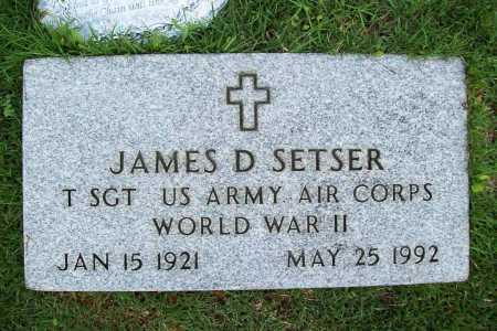 SETSER (VETERAN WWII), JAMES D. - Benton County, Arkansas | JAMES D. SETSER (VETERAN WWII) - Arkansas Gravestone Photos