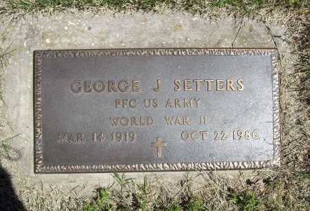 SETTERS (VETERAN WWII), GEORGE J - Benton County, Arkansas | GEORGE J SETTERS (VETERAN WWII) - Arkansas Gravestone Photos