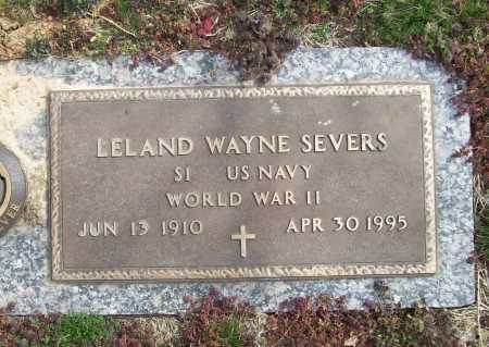 SEVERS (VETERAN WWII), LELAND WAYNE - Benton County, Arkansas | LELAND WAYNE SEVERS (VETERAN WWII) - Arkansas Gravestone Photos