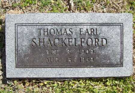 SHACKELFORD, THOMAS EARL - Benton County, Arkansas | THOMAS EARL SHACKELFORD - Arkansas Gravestone Photos