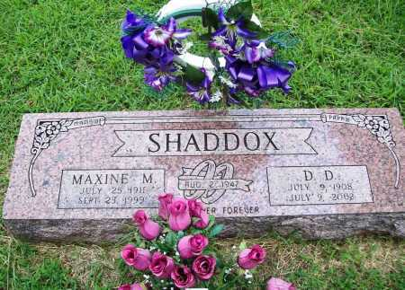 SHADDOX, D. D. - Benton County, Arkansas | D. D. SHADDOX - Arkansas Gravestone Photos