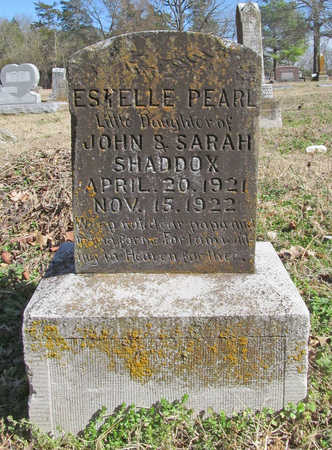 SHADDOX, ESTELLE PEARL - Benton County, Arkansas | ESTELLE PEARL SHADDOX - Arkansas Gravestone Photos