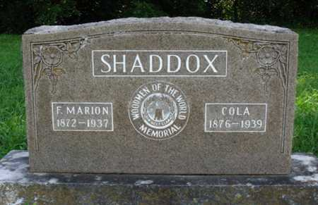 SHADDOX, F. MARION - Benton County, Arkansas | F. MARION SHADDOX - Arkansas Gravestone Photos