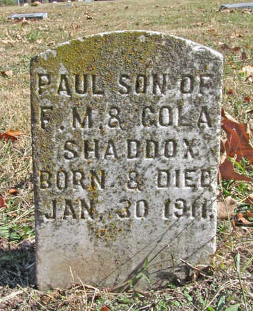 SHADDOX, PAUL - Benton County, Arkansas | PAUL SHADDOX - Arkansas Gravestone Photos
