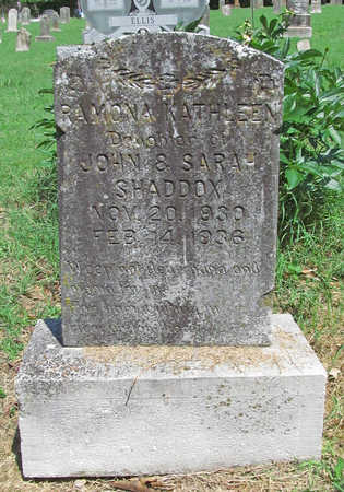 SHADDOX, RAMONA KATHLEEN - Benton County, Arkansas | RAMONA KATHLEEN SHADDOX - Arkansas Gravestone Photos