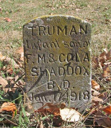 SHADDOX, TRUMAN - Benton County, Arkansas   TRUMAN SHADDOX - Arkansas Gravestone Photos