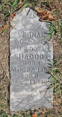 SHADDOX, VERNAL - Benton County, Arkansas | VERNAL SHADDOX - Arkansas Gravestone Photos