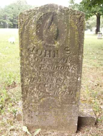 SHADDOZ, JOHN S. - Benton County, Arkansas | JOHN S. SHADDOZ - Arkansas Gravestone Photos