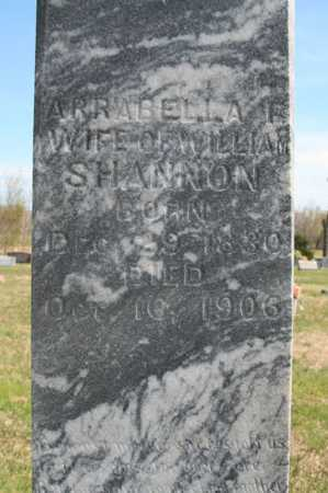 SHANNON, ARRABELLA F. (CLOSEUP) - Benton County, Arkansas | ARRABELLA F. (CLOSEUP) SHANNON - Arkansas Gravestone Photos