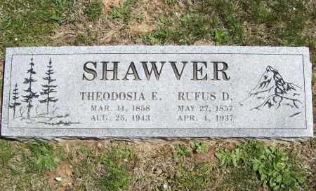 SHAWVER, RUFUS D. - Benton County, Arkansas | RUFUS D. SHAWVER - Arkansas Gravestone Photos