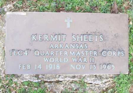 SHEETS (VETERAN WWII), KERMIT - Benton County, Arkansas | KERMIT SHEETS (VETERAN WWII) - Arkansas Gravestone Photos