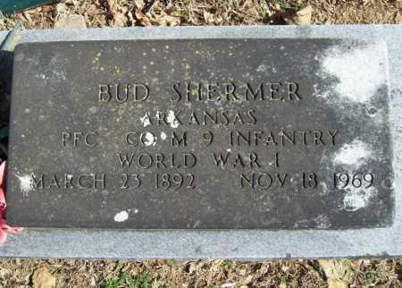 SHERMER (VETERAN WWI), BUD - Benton County, Arkansas | BUD SHERMER (VETERAN WWI) - Arkansas Gravestone Photos