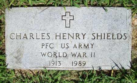 SHIELDS (VETERAN WWII), CHARLES HENRY - Benton County, Arkansas | CHARLES HENRY SHIELDS (VETERAN WWII) - Arkansas Gravestone Photos
