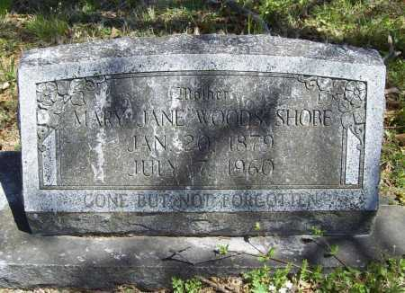 WOODS SHOBE, MARY JANE - Benton County, Arkansas | MARY JANE WOODS SHOBE - Arkansas Gravestone Photos