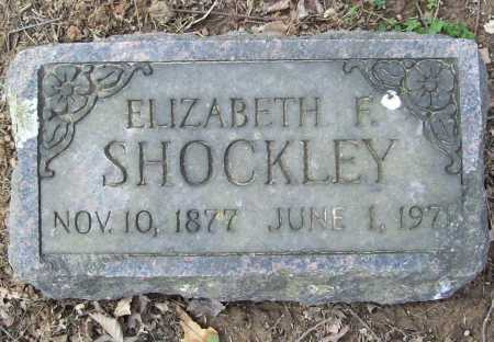 SHOCKLEY, ELIZABETH F. - Benton County, Arkansas | ELIZABETH F. SHOCKLEY - Arkansas Gravestone Photos