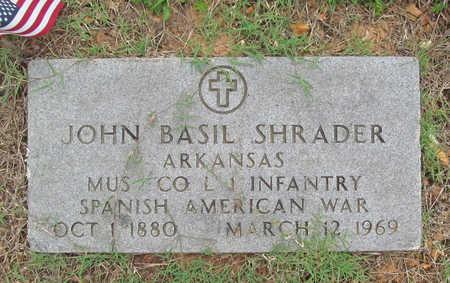 SHRADER (VETERAN SAW), JOHN BASIL - Benton County, Arkansas | JOHN BASIL SHRADER (VETERAN SAW) - Arkansas Gravestone Photos
