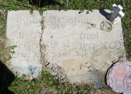 SHRUM, ANNA JANE - Benton County, Arkansas | ANNA JANE SHRUM - Arkansas Gravestone Photos