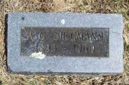 SIEGMANN, A. O. - Benton County, Arkansas | A. O. SIEGMANN - Arkansas Gravestone Photos