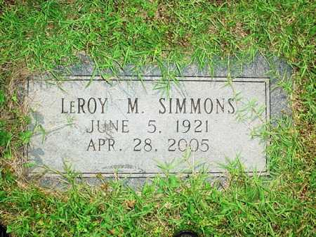 SIMMONS, LEROY M. - Benton County, Arkansas | LEROY M. SIMMONS - Arkansas Gravestone Photos