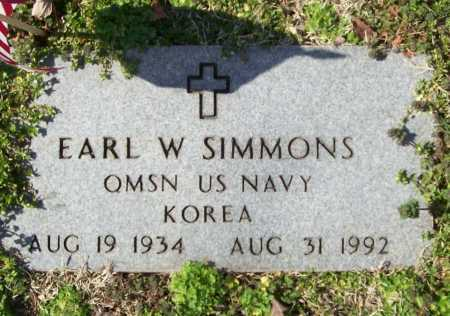SIMMONS (VETERAN KOR), EARL W - Benton County, Arkansas | EARL W SIMMONS (VETERAN KOR) - Arkansas Gravestone Photos