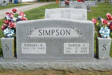 SIMPSON, HAROLD L. - Benton County, Arkansas | HAROLD L. SIMPSON - Arkansas Gravestone Photos