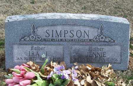 SIMPSON, JENNIE - Benton County, Arkansas | JENNIE SIMPSON - Arkansas Gravestone Photos