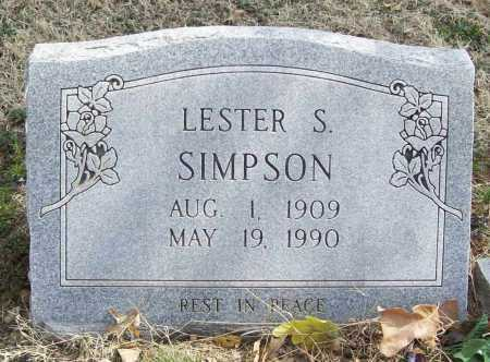 SIMPSON, LESTER S. - Benton County, Arkansas | LESTER S. SIMPSON - Arkansas Gravestone Photos